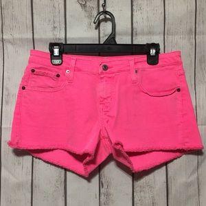 Big Star 1974 Shorts 30 Neon Pink Jean Cut-Off